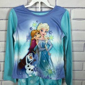 NWT Disney Frozen Girl's  Sleepwear Set Sz 8